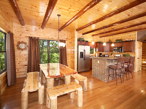 Serenity Lodge Cabin In Gatlinburg Elk Springs Resort